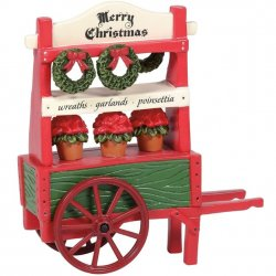 Department 56 Classic Christmas Poinsettia Cart