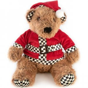 MacKenzie-Childs Santa Teddy Bear