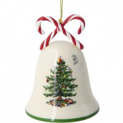 "SPODE ""Christmas Tree"" Candy Cane Bell Ornament"