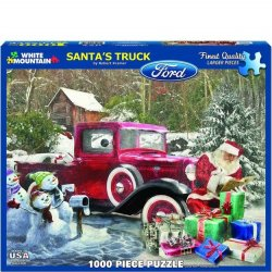 White Mountain 1000 pc Puzzle - Santa's Truck