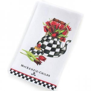 MacKenzie-Childs Tulip Tea Kettle Towel