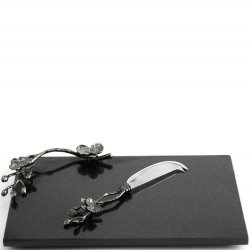 Michael Aram Black Orchid Cheeseboard & Knife Set
