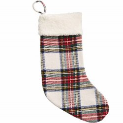 White Plaid Stocking