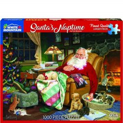 White Mountain 1000 pc Puzzle - Santa's Naptime