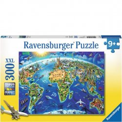 Ravensburger 300 pc Puzzle - World Landmark Map