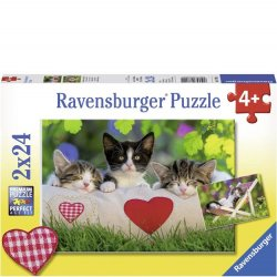 Ravensburger 2 x 24 pc Puzzles - Sleepy Kittens