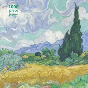 Flame Tree 1000 PC Puzzle - Van Gogh Wheatfield with Cypress