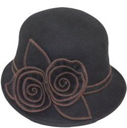 Wool Hat with Big Flower