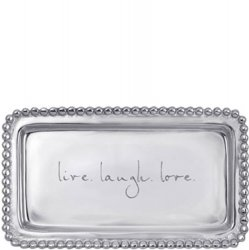 Mariposa Trinket Tray - Live. Laugh. Love.