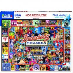 White Mountain 1000 pc Puzzle - Broadway Musicals