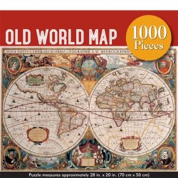 Peter Pauper 1000 pc Puzzle - Old World Map