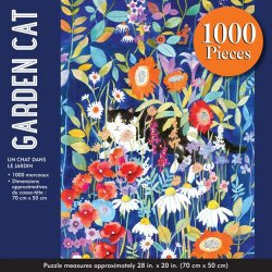 Peter Pauper 1000 pc Puzzle - Garden Cat