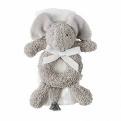 Mud Pie Elephant Rattle and Blanket Set