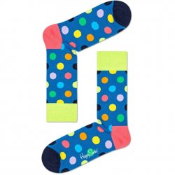 Happy Socks - Blue Heather/Yellow Dots