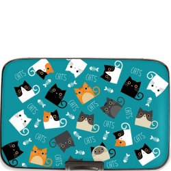 Armoured Wallet Case - Cats