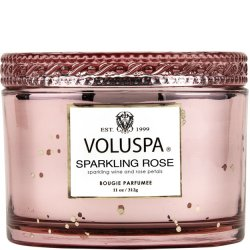 Voluspa Sparkling Rose Glass Maison Candle