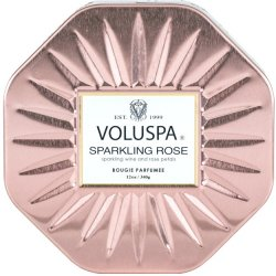 Voluspa Sparkling Rose 3 Wick Octagon Tin Candle