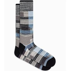 Bugatchi Mercerized Cotton Socks - Grey Patchwork