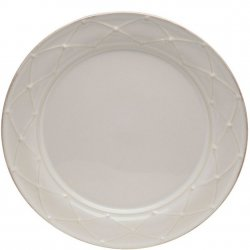 Casafina Meridian White - Decorated Dinner Plate