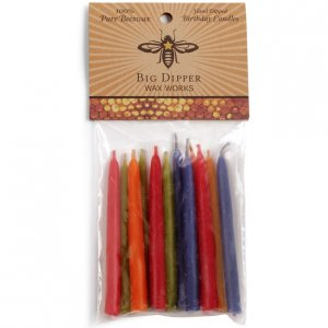 Beeswax Birthday Cake Tapers Pack of 12 - Assorted