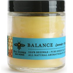 Beeswax Apothecary Glass 3.2 oz - Balance (Lavender & Peppermint)