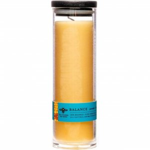 Beeswax Apothecary Glass 12.5 oz - Balance (Lavender & Peppermint)