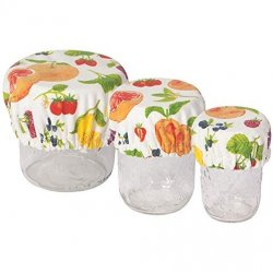 Now Designs Jar, Bowl & Can Covers - Set of 3 - Fruit Salad