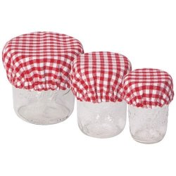 Now Designs Jar, Bowl & Can Covers - Set of 3 - Red Gingham