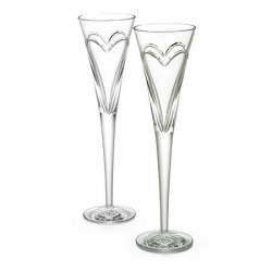 WATERFORD Wishes, Love & Romance Toasting Flutes, Style #139903