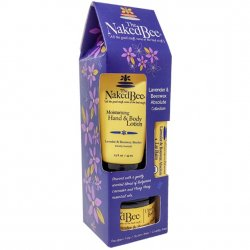 The Naked Bee Lavender & Beeswax Absolute 3 PC Hand and Body Carton Gift Set