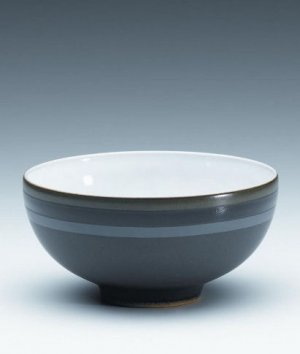 "DENBY ""Jet Stripes"" Rice Bowl, Style #JST209"