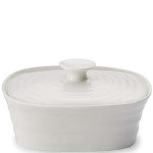 """SOPHIE CONRAN """"White"""" Butter Dish, Covered 6"""" x 4.75"""", Style #422445"""