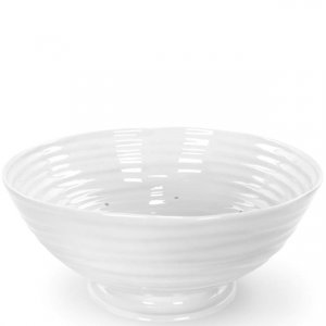 """SOPHIE CONRAN """"White"""" Drainer, Footed 9"""" Diameter, Style #422490"""
