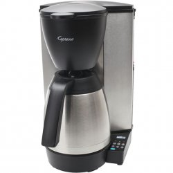 Capresso 10-Cup Programmable Coffeemaker with Stainless-Steel Thermal Carafe Style #MT600 Plus