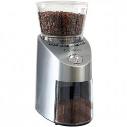 Capresso Infinity Conical Burr Grinder, metal, stainless steel finish Style #565